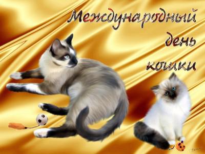 Поздравления с всемирным днем кошек 95